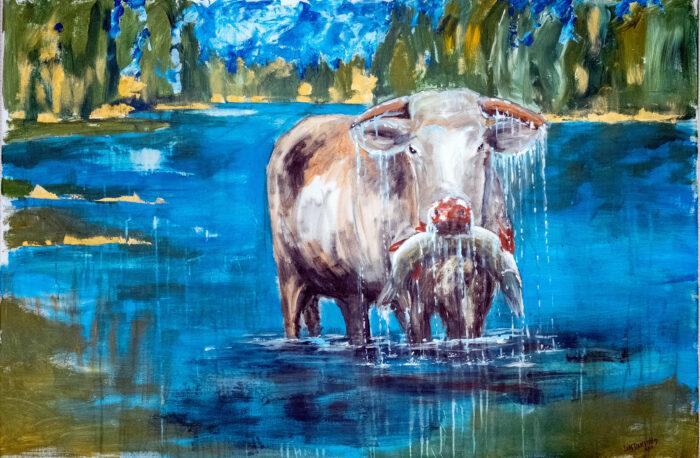 Fiskande ko